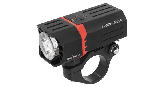 guee SOL 700 Plus Sensor Frontlicht Schwarz